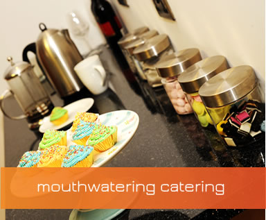 Catering at babble research & viewing facility, Solihull, Birmingham